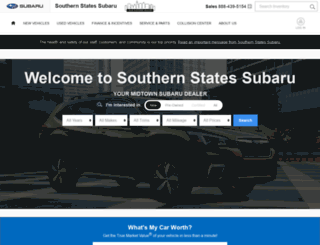 southernstatessubaru.net screenshot