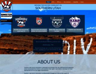 southernutahsoccer.com screenshot