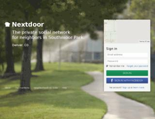 southmoorparkdnvr.nextdoor.com screenshot