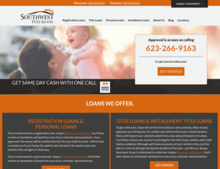 southwesttitleloans.com screenshot