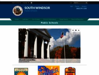 southwindsorschools.org screenshot