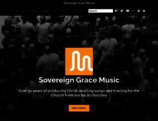 sovereigngracemusic.org screenshot