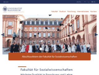 sowi.uni-mannheim.de screenshot