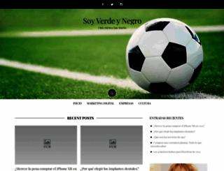 soyverdinegro.com.ar screenshot