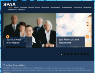 spaaprofessionals.com screenshot