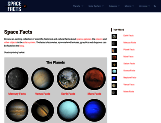 space-facts.com screenshot