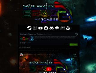 spacepiratesandzombies.com screenshot