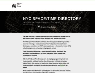 spacetime.nypl.org screenshot