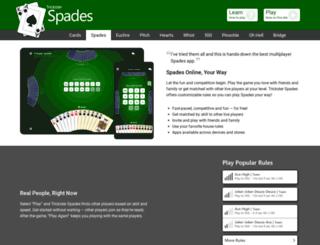 spades.trickstercards.com screenshot