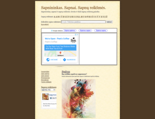 spalvos.sapnai.info screenshot