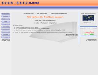 spam-mail-blocker.de screenshot