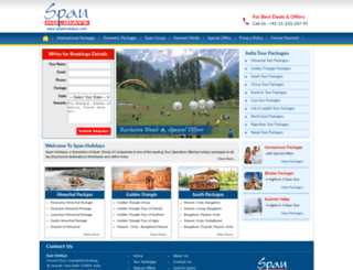spanholidays.com screenshot
