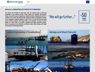 spanopoulos-group.com screenshot