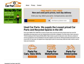 sparefinder.co.uk screenshot