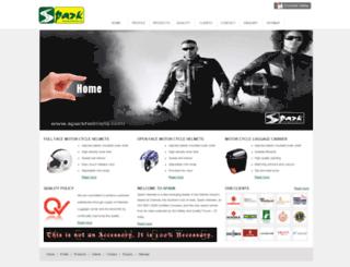 sparkhelmets.com screenshot