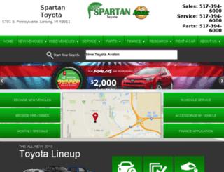 spartantoyota.com screenshot