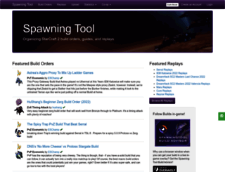 spawningtool.com screenshot
