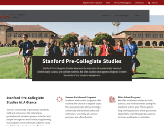 spcs.stanford.edu screenshot