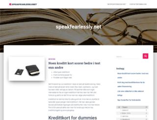 speakfearlessly.net screenshot