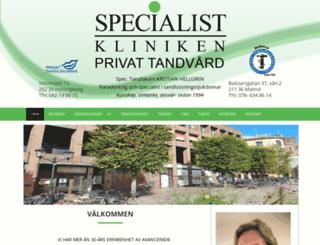 specialistklinikenhbg.se screenshot
