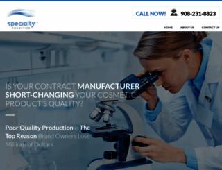 specialtycosmetics.net screenshot