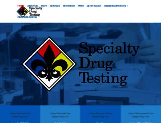 specialtydrugtesting.com screenshot