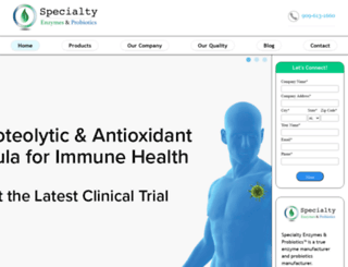 specialtyenzymes.com screenshot