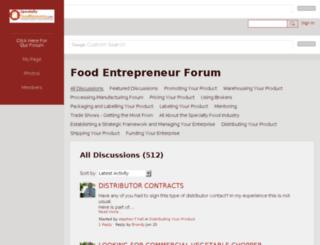 specialtyfood.ning.com screenshot