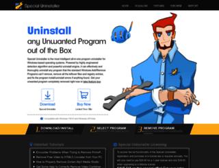 specialuninstaller.com screenshot