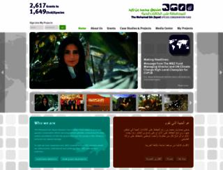 speciesconservation.org screenshot