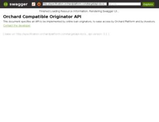 specification.orchardplatform.com screenshot