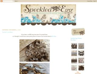speckled-egg.blogspot.com screenshot