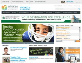 speech-language-pathology-audiology.advanceweb.com screenshot