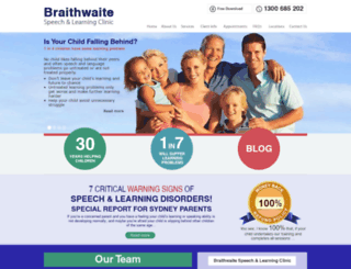 speechandlearning.com.au screenshot