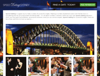 speed-dating-sydney.com.au screenshot
