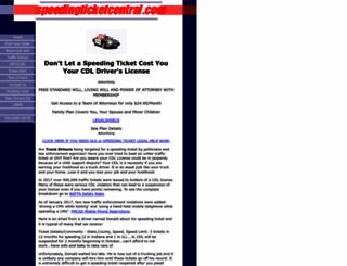 speedingticketcentral.com screenshot