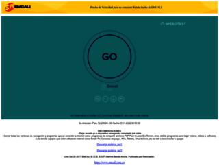 speedtest.emcali.net.co screenshot