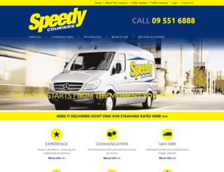 speedycouriers.co.nz screenshot