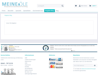 speiseoele.net screenshot