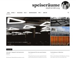 speiseraeume.de screenshot