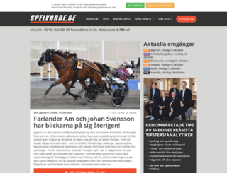 spelvarde.se screenshot