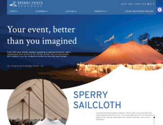 sperrytentsseacoast.com screenshot