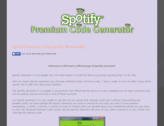 spfy-generator.blogspot.com screenshot