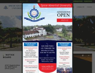 spiceradventistuniversity.com screenshot