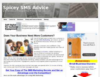 spicesms.com screenshot