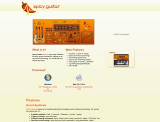 spicyguitar.com screenshot