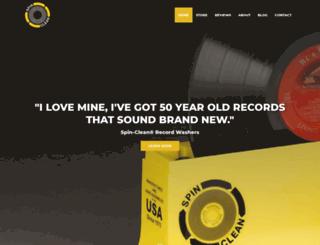 spincleanrecordwasher.com screenshot