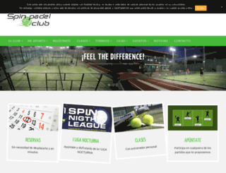 spinpadelclub.com screenshot