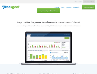 spinriverdesignslimited.freeagentcentral.com screenshot