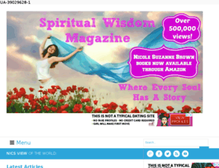 spiritualwisdommagazine.com screenshot